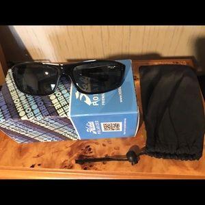 6dd4bf48380 Hobie Polarized Cabo Sunglasses Shiny Black Frame